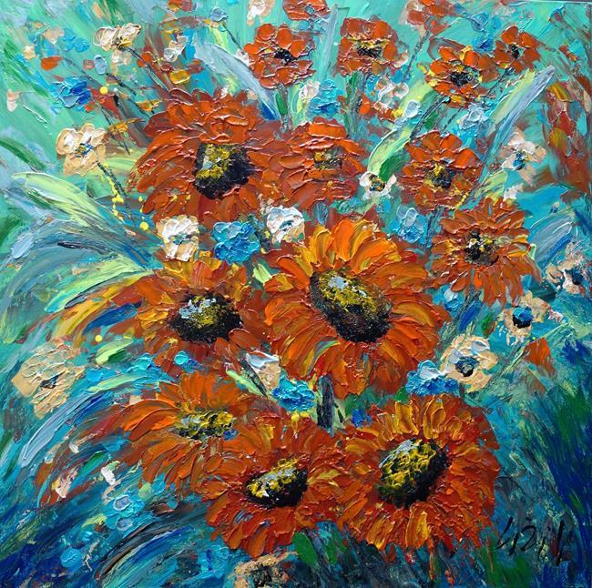 Art: Dahlia Floral by Artist LUIZA VIZOLI