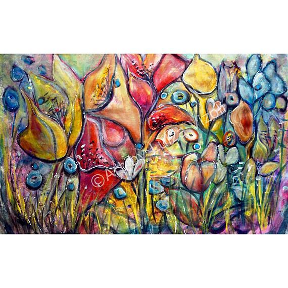 Art: exotic garden by Artist LUIZA VIZOLI