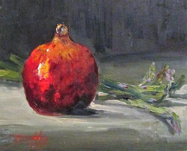 Art: Pomegranate and Asparagus by Artist Delilah Smith