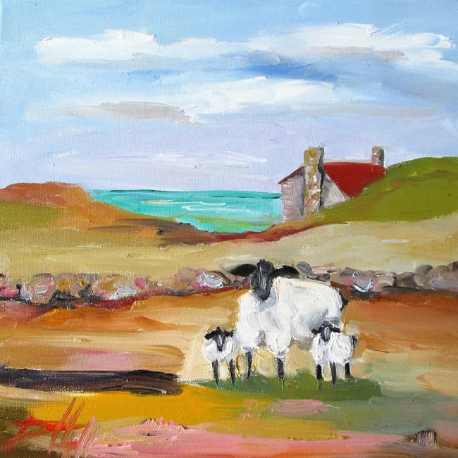 Art: Irish Sheep No. 4 by Artist Delilah Smith