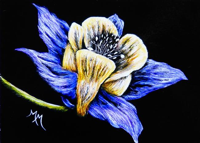 Art: Columbine  (SOLD) by Artist Monique Morin Matson