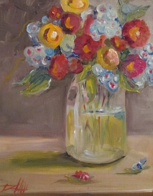 Art: Floral Still Life No.8 by Artist Delilah Smith