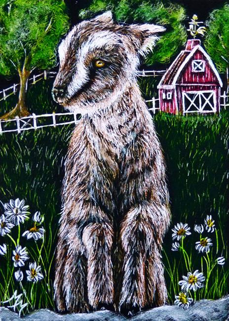 Art: Kidding Around  (SOLD) by Artist Monique Morin Matson