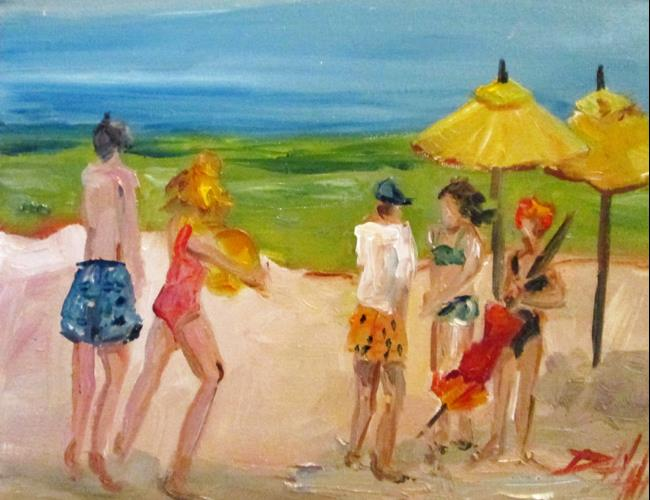 Art: Beach People No. 5 by Artist Delilah Smith