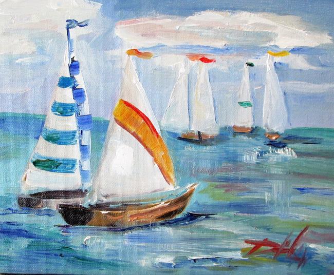 Art: Sailboat No. 8 by Artist Delilah Smith
