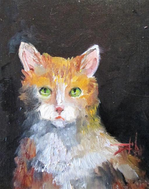 Art: I'm Watching, Cat by Artist Delilah Smith