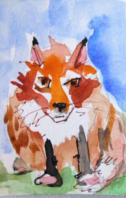 Art: Fat Fox by Artist Delilah Smith
