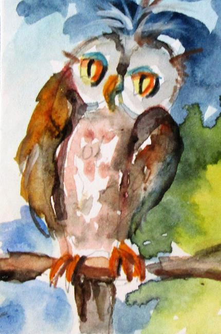Art: Hoot Owl by Artist Delilah Smith
