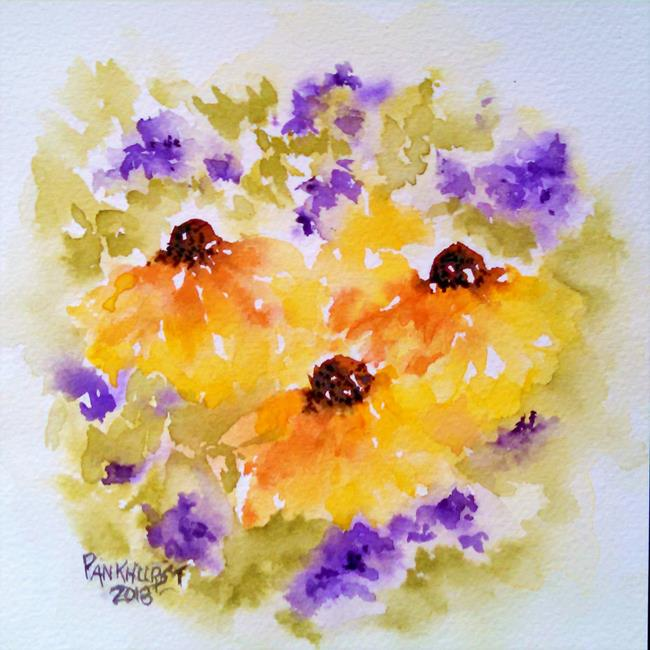 Art: Shades of Wildflowers by Artist Bonnie Pankhurst