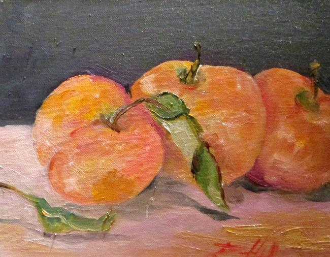Art: Three Peaches by Artist Delilah Smith