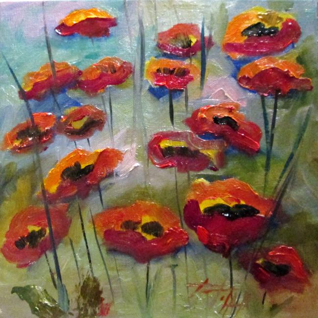 Art: Poppies No.7 by Artist Delilah Smith