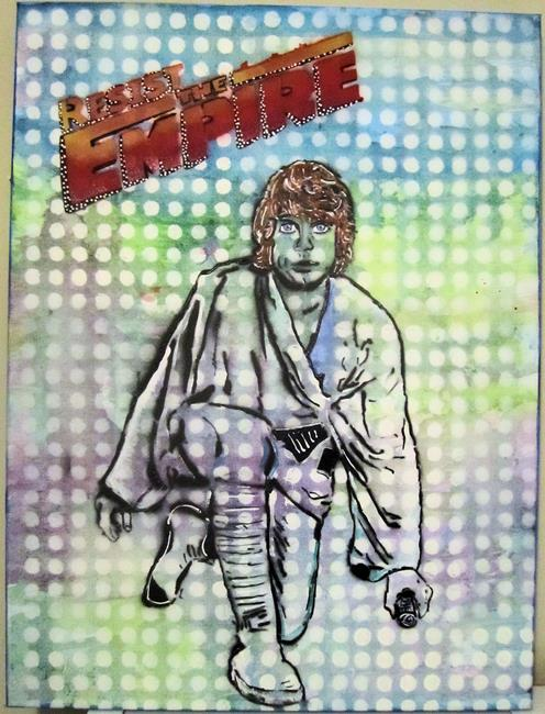 Art: Luke Skywalker Star Wars Resist by Artist Paul Lake, Lucky Studios