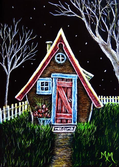 Art: Welcome Cottage by Artist Monique Morin Matson