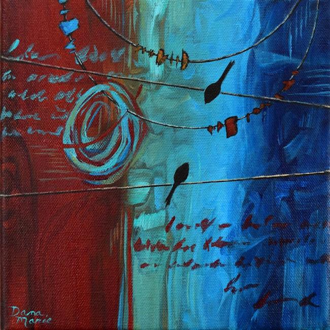 Art: Love Letters ~ Birds on a Wire Series by Artist Dana Marie