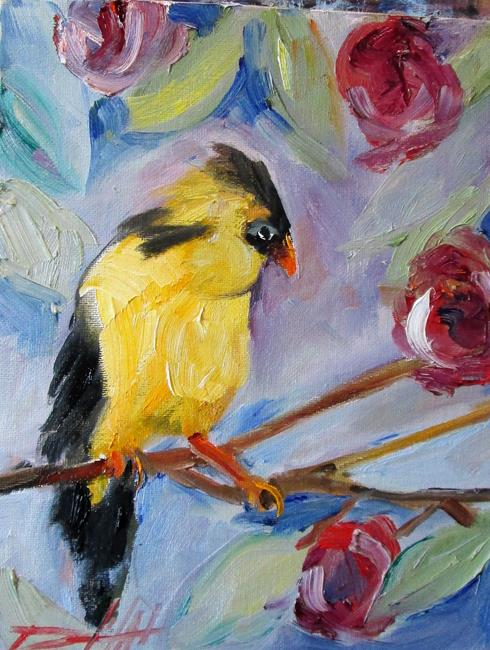 Art: Goldfinch by Artist Delilah Smith