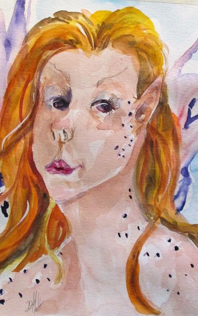Art: Purple Fairy by Artist Delilah Smith