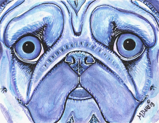 Art: Pug Impression 1 by Artist Melinda Dalke