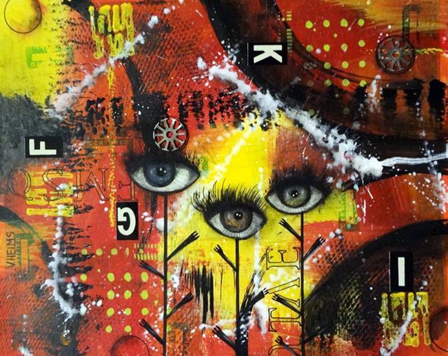 Art: Three Eyes by Artist Vicky Helms