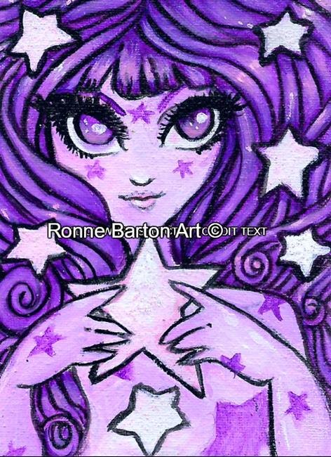 Art: Princess of the Stars ACEO by Artist Ronne P Barton
