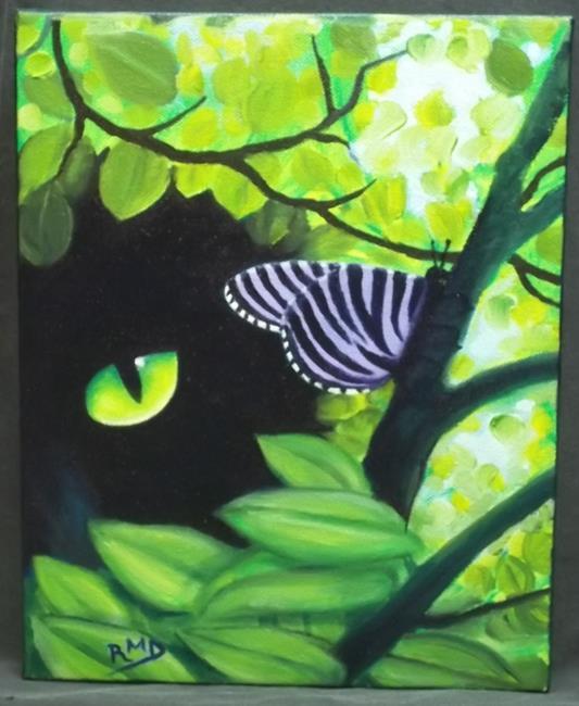Art: FASCINATED by Artist Rosemary Margaret Daunis