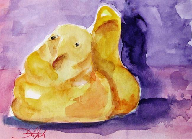 Art: Yellow Peep by Artist Delilah Smith