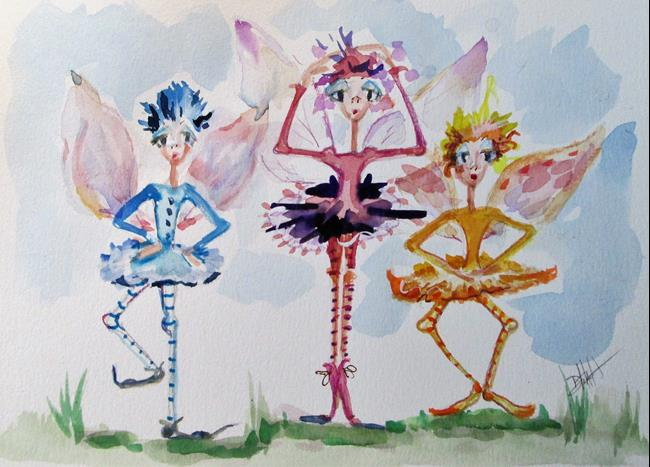 Art: Dancing Flower Fairies by Artist Delilah Smith