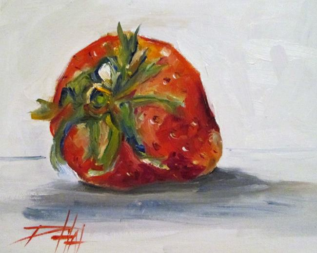 Art: One Strawberry by Artist Delilah Smith
