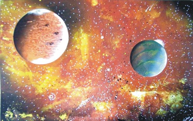 Art: Spray paint art by Artist Leonard G. Collins