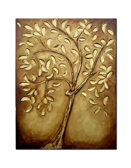 Art: GOLDEN TREE by Artist Kate Challinor