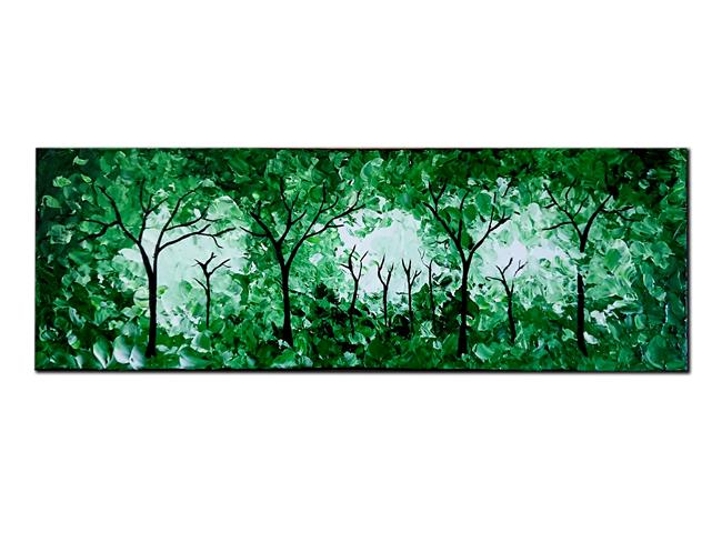 Art: A GESTURE OF FOREST GREEN by Artist Kate Challinor
