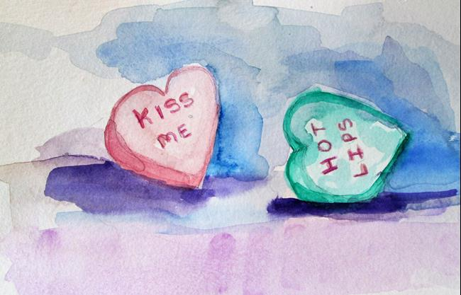 Art: Kiss Me by Artist Delilah Smith