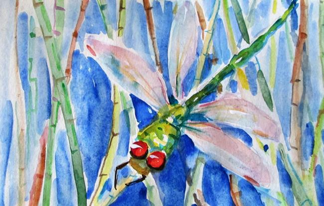 Art: Dragonfly No. 5 by Artist Delilah Smith