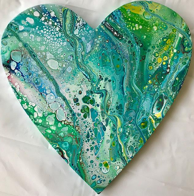 Art: Abstract Heart by Artist Ulrike 'Ricky' Martin