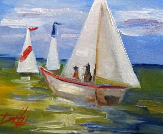Art: Sailboat No. 9 by Artist Delilah Smith