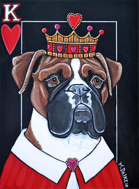Art: King of Hearts Boxer 1 by Artist Melinda Dalke