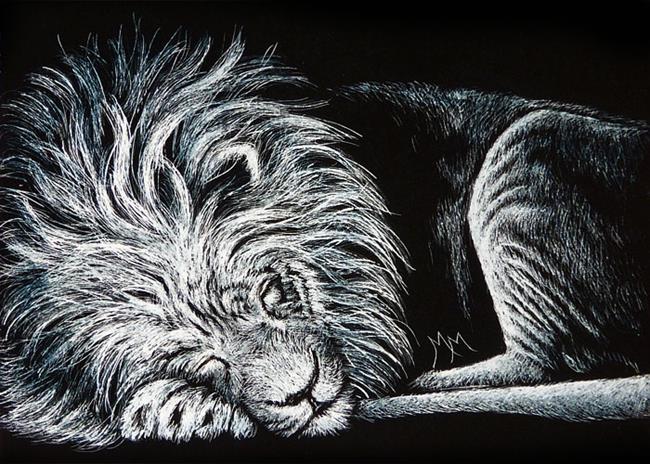 Art: Resting Lion  (SOLD) by Artist Monique Morin Matson