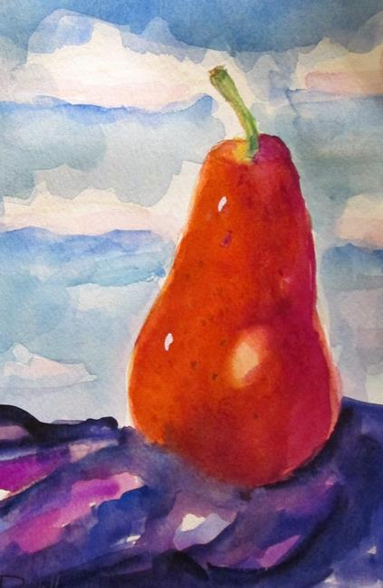 Art: Red Pear by Artist Delilah Smith