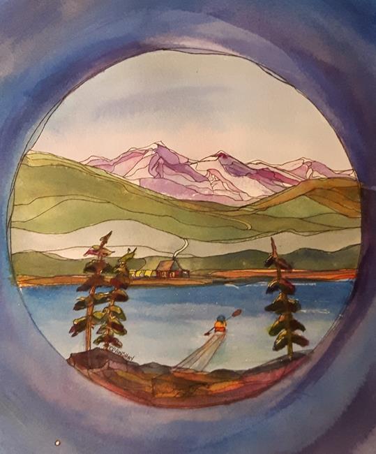 Art: Spring Forward by Artist Kathy Crawshay