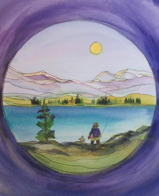Art: Lured In for the Day by Artist Kathy Crawshay