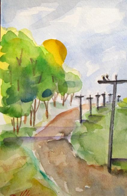 Art: Country Road by Artist Delilah Smith