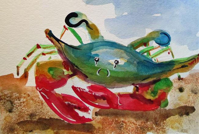 Art: Blue Crab No. 11 by Artist Delilah Smith