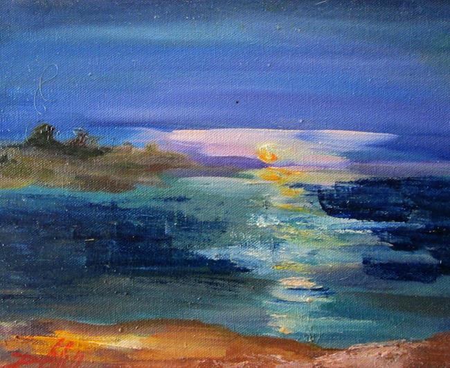 Art: Evening Sun by Artist Delilah Smith