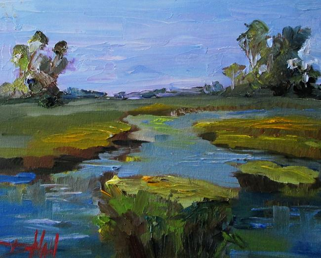 Art: Landscape and Stream No. 2 by Artist Delilah Smith