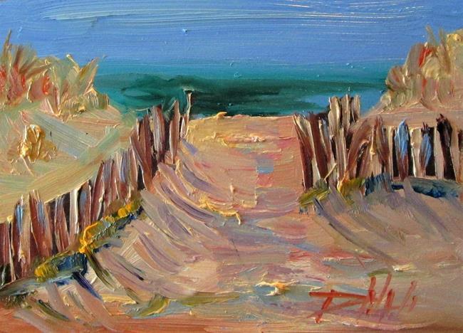 Art: Beach Fence by Artist Delilah Smith