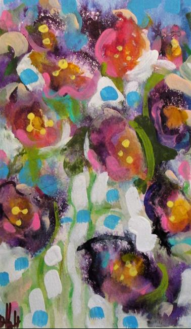 Art: Purple Flowers by Artist Delilah Smith