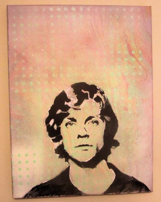 Art: Luke Skywalker Face Original Pop Graffiti Art by Artist Paul Lake, Lucky Studios