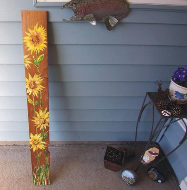 Art: Sunflower by Artist Leonard G. Collins