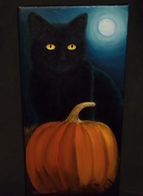 Art: NIGHT CAT by Artist Rosemary Margaret Daunis
