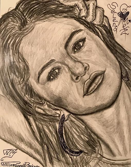 Art: SELENA GORGEOUS GOMEZ.8 by Artist William Powell Brukner