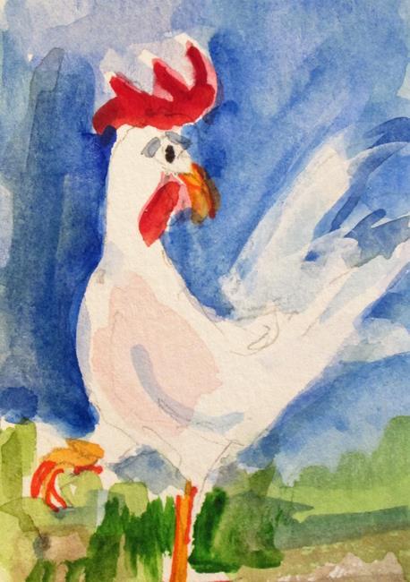 Art: Leghorn No 2 by Artist Delilah Smith